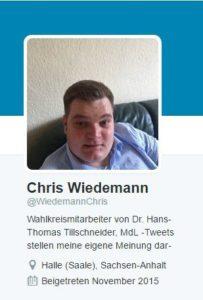 Twitter-Profil von Chris Wiedemann